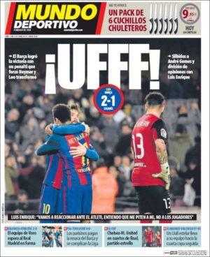 Portada de Mundo Deportivo del 20 de febrero de 2017.
