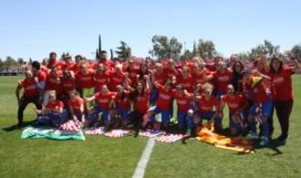 La selección sub-19 en un entrenamiento en Las Rozas en 2017: Ravelo.