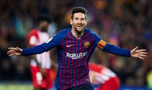 Messi celebrando un gol: EFE.