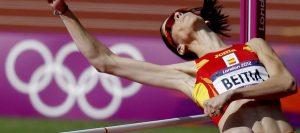 Ruth Beitia compiendo en los Juegos de Londres: EFE.