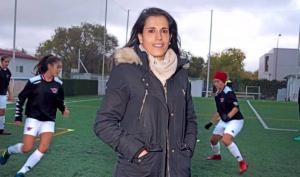 Ana Rossell en un entrenamiento del Tacón: Twitter.
