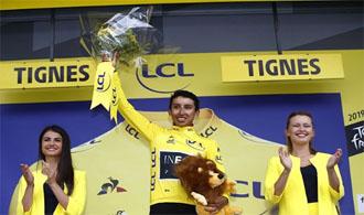 Egan Bernal en el podio del Tour de Francia: Instagram.