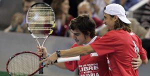 Fernando Alonso y Rafa Nadal en un partido benéfico en 2008: Agencias.
