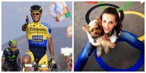 Alberto Contador (Foto: EFE) y Andreea Raducan (Foto: Autor desconocido).
