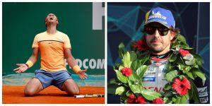 Rafa Nadal y Fernando Alonso: EFE.