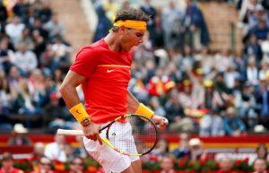 Rafa Nadal en la Copa Davis 2018: EFE.
