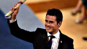 Javi Gómez Noya en los Premios Princesa de Asturias 2016: RTVE.
