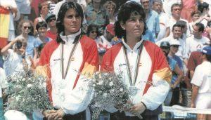 Conchita Martínez Y Arantxa Sánchez Vicario, subcampeonas olímpicas en dobles en Barcelona 92: EFE.