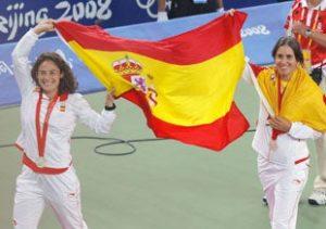 Vivi Ruano y Anabel Medina, plata en dobles en Pekín 2008: Lavadeira-EFE.