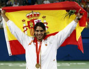 Entre los héroes del tenis no podía faltar el gran Rafa Nadal, medalla de oro en Pekín 2008: RTVE.