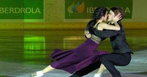 Sara Hurtado y Kirill khaliavin patinando con la música de Rosalía: EFE.