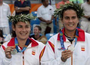 Vivi Ruano y Conchita Martínez, subcampeonas en dobles en Atenas 2004: EFE.