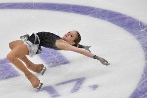 Alexandra Trusova en la última Rostelecom Cup: Yuri Kadobnov-AFP.