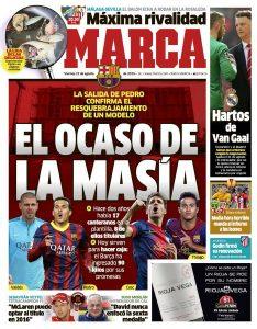 Portada de Marca el 21 de agosto de 2015.