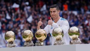Cristiano Ronaldo ofrece sus cinco Balones de Oro al Bernabéu: Agencias.