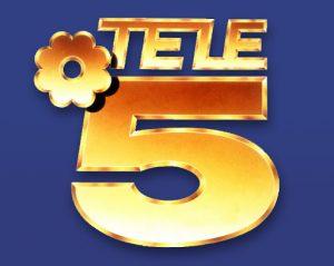 Logo de Telecinco en sus primeros años de existencia.