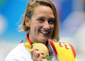 Mireia Belmonte y su oro olímpico de Río 2016: EFE.