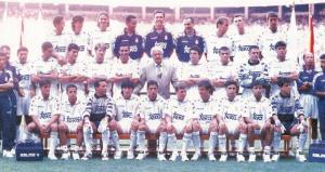 La plantilla del Real Madrid durante la temporada 94/95: Agencias.