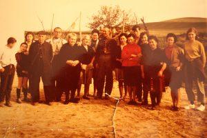 La gente de la Catalineta en una foto antigua.