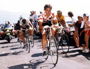 Robert Millar en el Tour 1984, donde ganó la clasificación de la montaña: Agencias.
