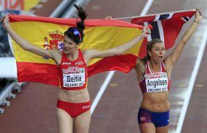 Ruth Beitia, oro, y Tonje Angelsen, plata, en los Europeos 2012: EFE.