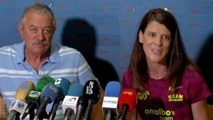 Ramón Torralbo y Ruth Beitia en una rueda de prensa: Diario Montañés.