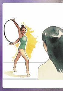 """Una de las ilustraciones que aparecen en """"El coraje oculto"""": María Emegé."""