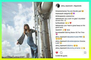 Una de tantas fotos de la falsa influencer Almudena Ripamonti: Instagram.