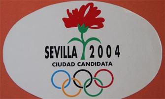 Logotipo de la candidatura olímpica de Sevilla 2004.