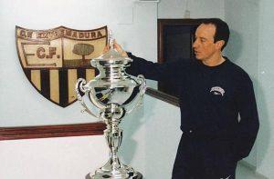 Rafa Benítez durante su época como entrenador del Club de Fútbol Extremadura: Agencias.