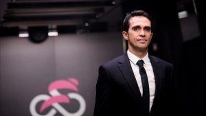 Alberto Contador es comentarista del Giro en Eurosport: AFP.