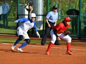 Partido de sóftbol entre Corea y China: Agencias.