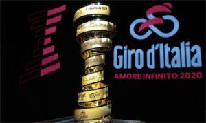 Trofeo y logotipo del Giro de Italia: Getty Images.