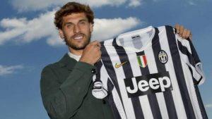 Fernando Llorente en su presentación como jugador de la Juventus: EFE.
