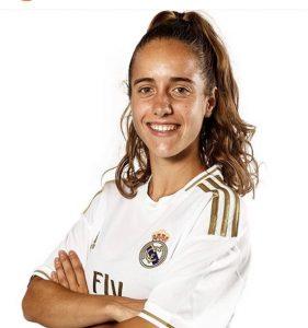 Maite Oroz con la camiseta del Real Madrid: Instagram.