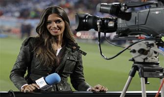 Sara Carbonero cuando era periodista deportiva en Mediaset: Hola.
