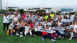 Celebración del ascenso del Madrid C.F.F. a Primera en 2017: EFE.