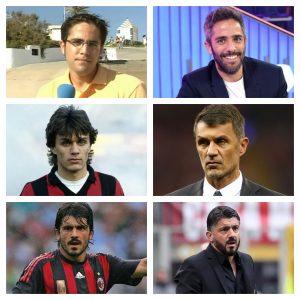 De izquierda a derecha y de arriba abajo: Roberto Leal joven (RTVE) y en la actualidad (RTVE), Paolo Maldini joven (Football Archive Tumblr) y en la actualidad (Gettu Images) y Gennaro Gattuso joven (Pinterest) y en la actualidad (EFE).
