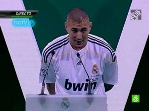 Presentación de Karim Benzema en el Real Madrid: You Tube.