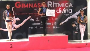 Eneko Lambea (oro), Gerard López (plata) y Ander Olcoz (bronce), medallistas en el Campeonato de España 2020: RFEG.
