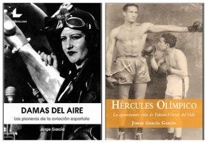 """""""Damas del aire"""" y """"Hércules Olímpico"""", los otros dos libros de Jorge García."""