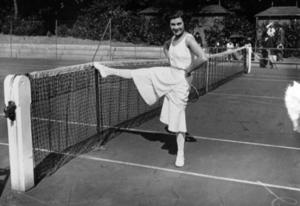 Lilí Álvarez en una pista de tenis: Archivo.