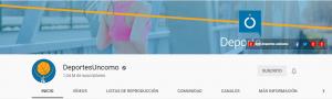 Cabecera del canal Deportes Uncomo.