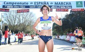 María Perez, campeona de España 2021 en 35 kilómetros marcha: RFEA.