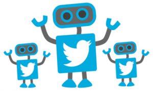 Representación de los bots en Twitter.