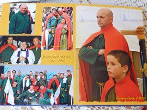 Juan Jiménez fue hermano mayor de San Juan en 2009: Álbum de la familia Jiménez Márquez.