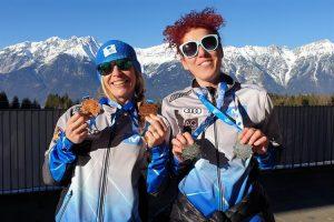 Cristina Caba y Rocío Carbajal, medallistas españolas en los World Masters Games de Invierno 2020: Spain Snow.