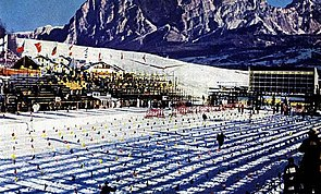 Estadio de la Nieve en Cortina d'Ampezzo 1956: Wikipedia.