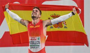 óscar Husillos recién proclamado campeón de Europa en pista cubierta en 400 metros: RTVE.