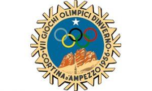 Logotipo de los Juegos Olímpicos de Invierno de Cortina d'Ampezzo 1956.